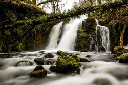 vennford waterfalls in the Dartmoor national park