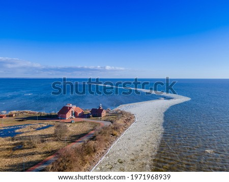 Vente Cape (Horn or Peninsula) is a headland in Lithuania. It's known as a rest place for many birds during their migrations. Ornithological Station - one of the first bird ringing stations in Europe. Stock photo ©