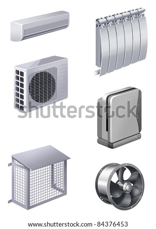 ventilation and air conditioning - stock photo