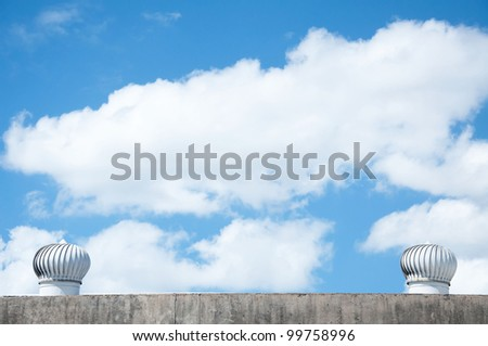 ventilation of a warehouse across the sky