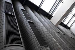 Ventilation Pipes Inside A Modern Building