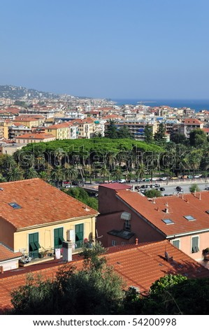 Ventimiglia town, Mediterranean sea coast, northern Italy