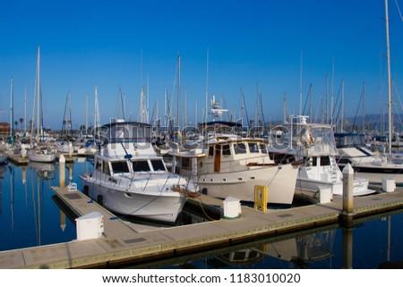 VENTURA, California USA - SEPT 9: Boats in Ventura Harbor on Sept 9, 2012 in Ventura, USA. #1183010020