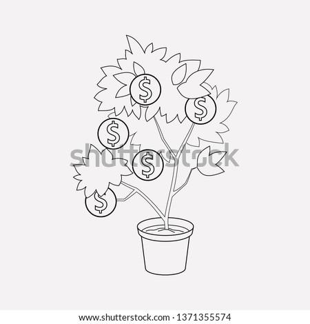 Venture capital icon line element.  illustration of venture capital icon line isolated on clean background for your web mobile app logo design.
