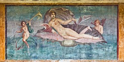 Venus fresco in House of Venus, Pompeii, Italy