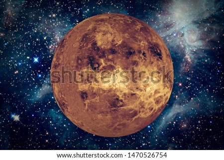 Venus. Fulle planet. The elements of this image furnished by NASA.