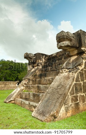 Venus Platform in the Great Plaza, Chichen Itza, Mexico