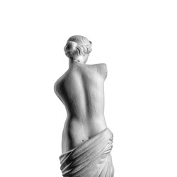 Venus statue on a white background