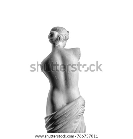 Venus statue on a white background #766757011