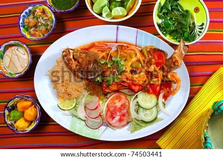 Veracruzana style grouper fish mexican seafood chili sauces