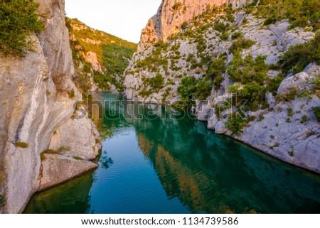 Verdon Gorges. Quinson, Alpes de Haute Provence. La France. #1134739586