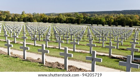 Verdun War Cemetery - stock photo