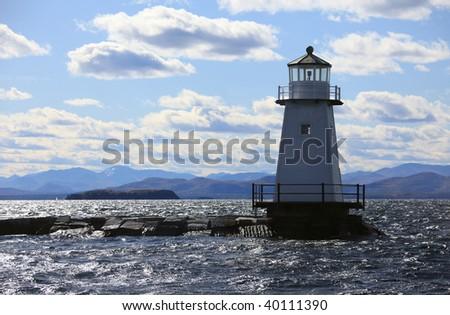 Vermont Lighthouse on Champlain Lake,Vermont,USA