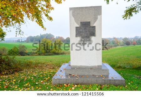 Vermont Monument overlooking the historic Thomas Farm at Monocacy National Battlefield