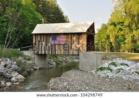 Vermont rebuilt covered bridge