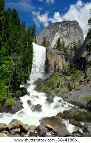Vernal Falls and Half Dome, Yosemite National Park, California