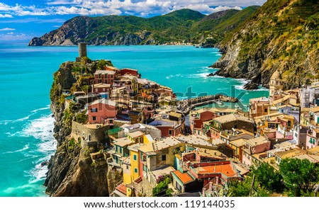 Vernazza, Cinque Terre Italy - stock photo