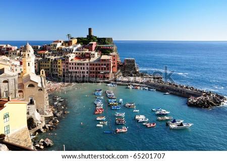 Vernazza fisherman village, Cinque Terre, Italy