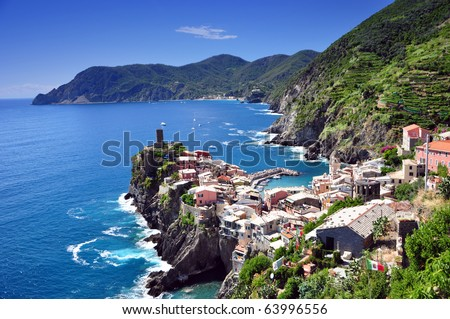 Vernazza fishermen village in Cinque Terre, Italy