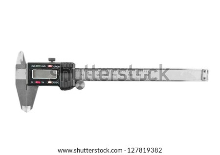 Vernier caliper isolated on white background