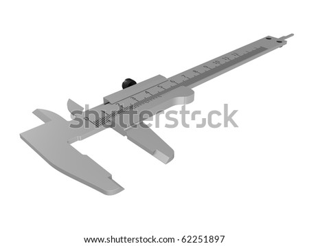 Vernier calipers isolated over white background