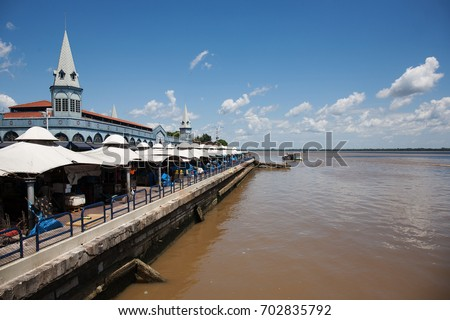 Shutterstock Vero-o-Peso, the famous Public Market  in Belem do Para, Brazil. A tourist and cultural center of the city, by the river.