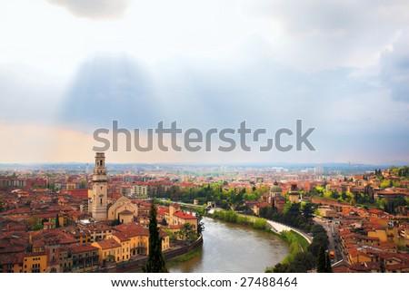 Verona city landscape, Italy