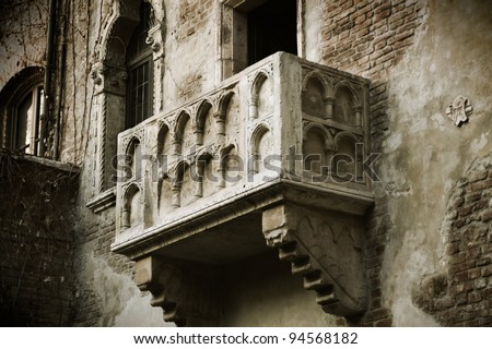 Verona italy the famous balcony of the true lover for Famous balcony