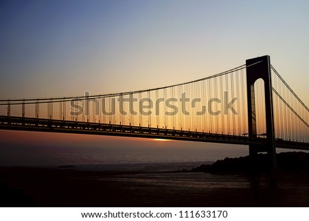 Verrazano Narrows Bridge  which connects Brooklyn, NY with Staten Iskand NY (suspension bridge)