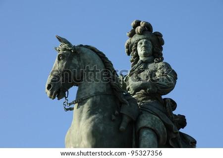 Versailles, bronze statue of Louis 14
