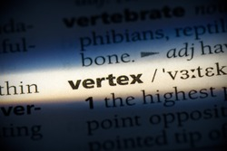 vertex word in a dictionary. vertex concept, definition.