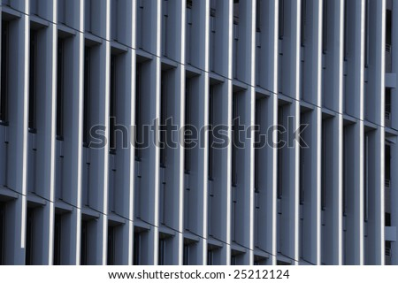 vertical abstract pattern of modern building, Tokyo, Japan