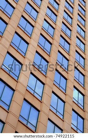 Vertical Background Business Image Of An Office Building - stock photo