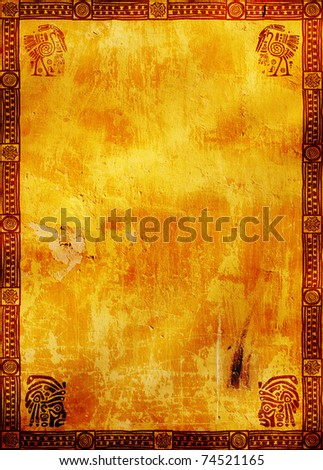 Vertical background with American Indian traditional patterns