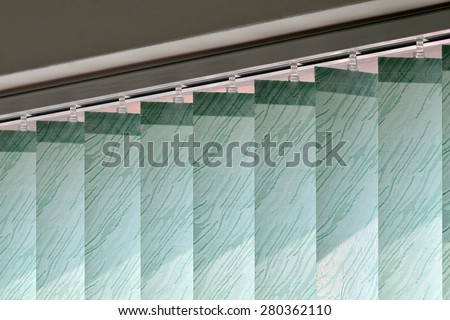 Vertical blinds on the window of the office #280362110