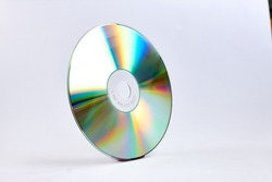 vertical cd on white background