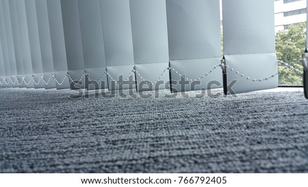 vertical fabric blinds isolated on a white background Stock photo ©