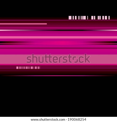 Vertical lines in shades of red, pink and purple with black on the top and bottom.