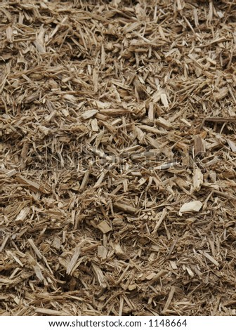 Vertical Mulch and Wood Chips Background Texture