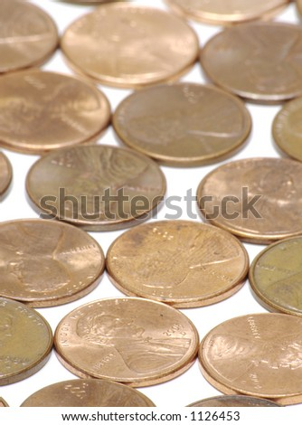 Vertical Pennies Background