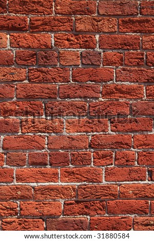 Vertical red brick texture wall