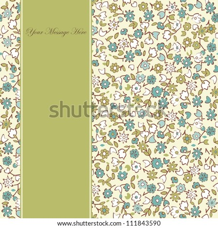 vertical seamless pattern with space for your text on the side
