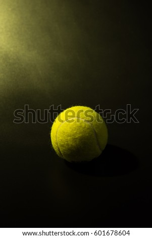 Vertical shooting Tennis on  black background. #601678604