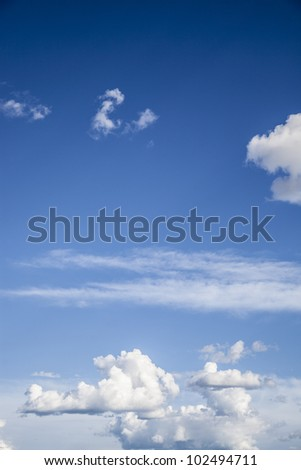 Vertical shot of a blue sky