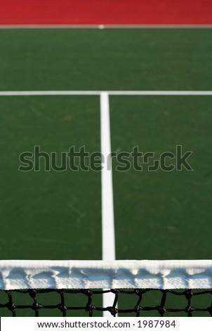 vertical tennis court abstract