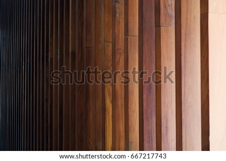 Vertical timber battens, Wood plank background.