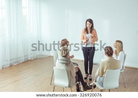 Vertical view of coaching for young women