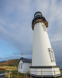Vertical View Yaquina Bay Lighthouse, Oregon, USA