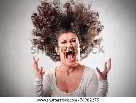 stock photo : Very angry woman
