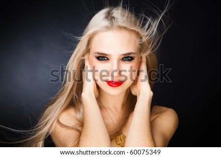 stock photo very attractive young girl with sexy red lips 60075349 The G Spot is that delightfully pleasurable spot found about two to three ...